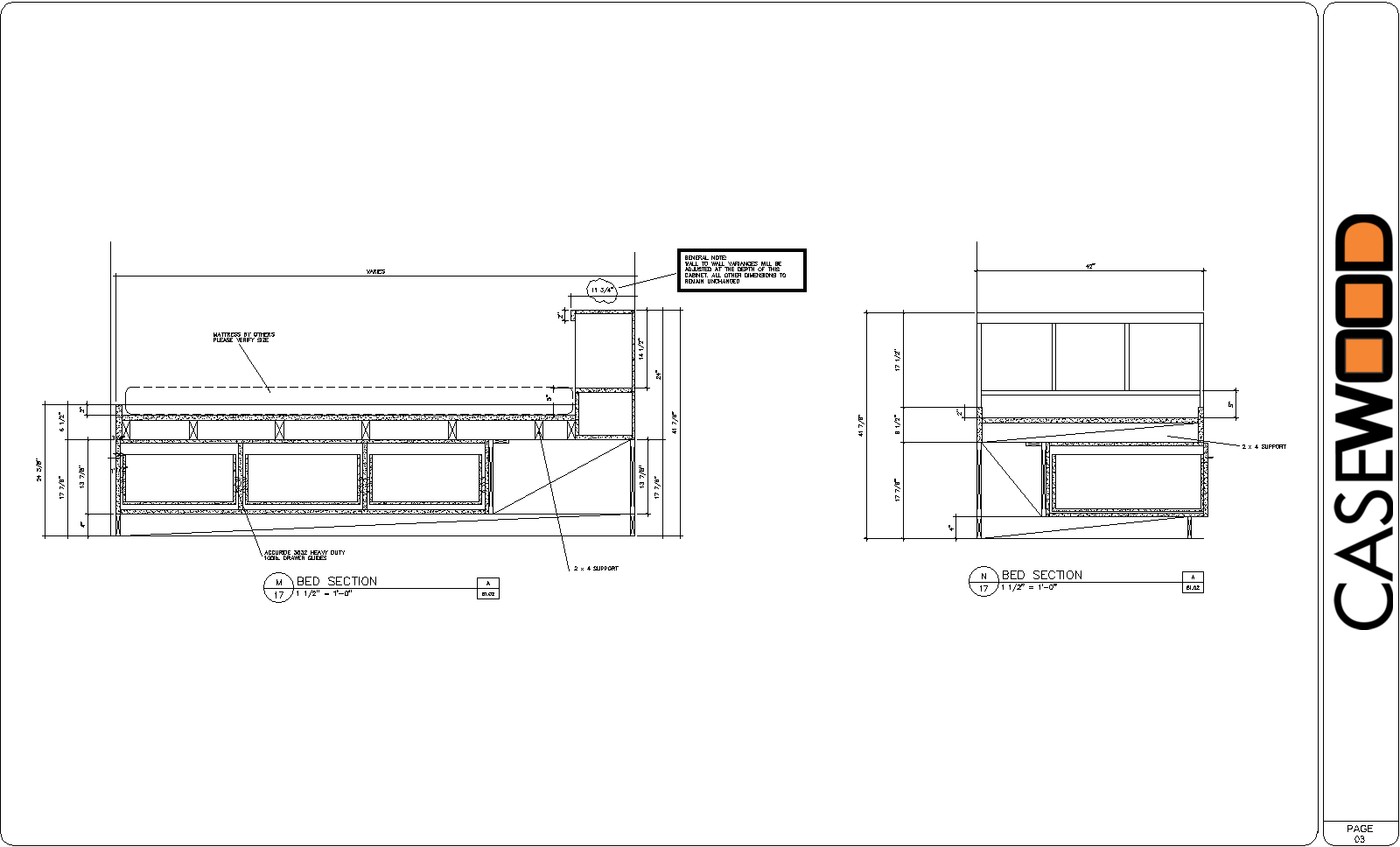 Cadkitchenplans com millwork shop drawings cabinet shop drawings - Cwsamp 03
