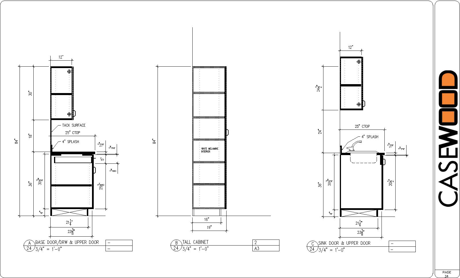 sample cad drawings casewood � cabinet shop drawings