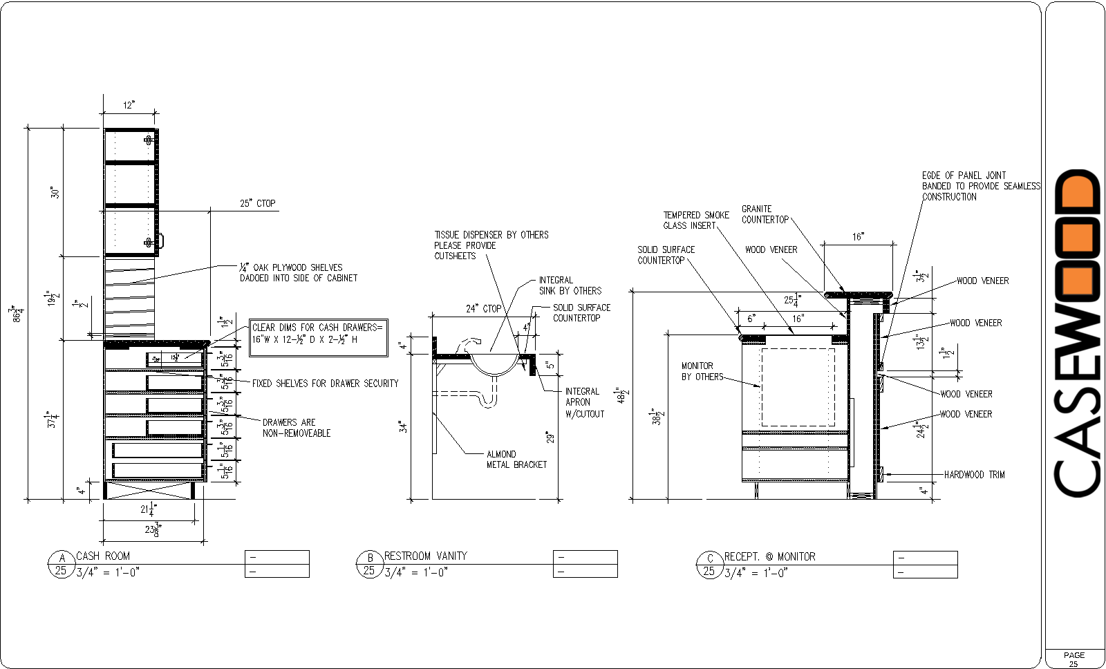 Woodworking Cabinet detail cad drawings Plans PDF Download Free ...