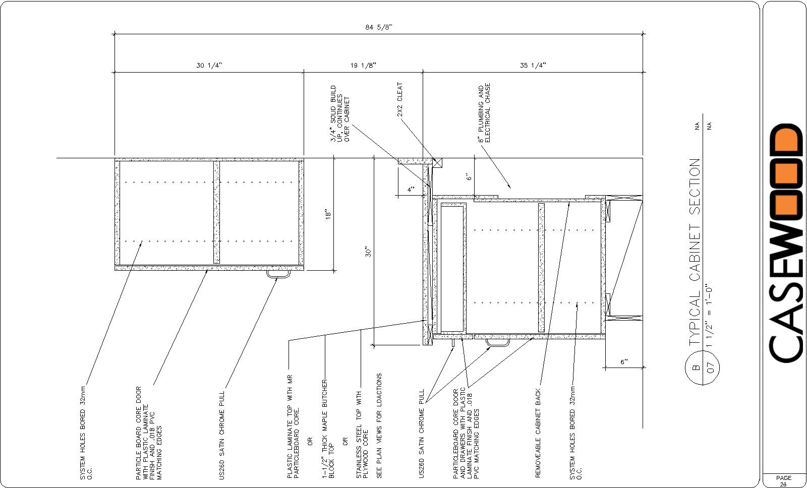 Sample Cad Drawings Casewood Cabinet Shop Drawings