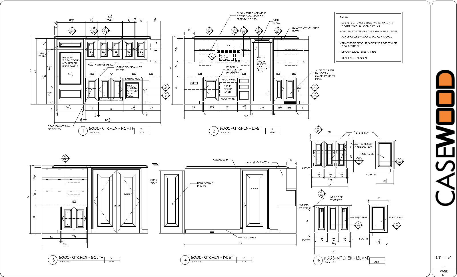 Sample cad drawings casewood cabinet shop drawings for Autocad kitchen cabinets